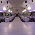 White Dance Floor with 20m Cat Walk