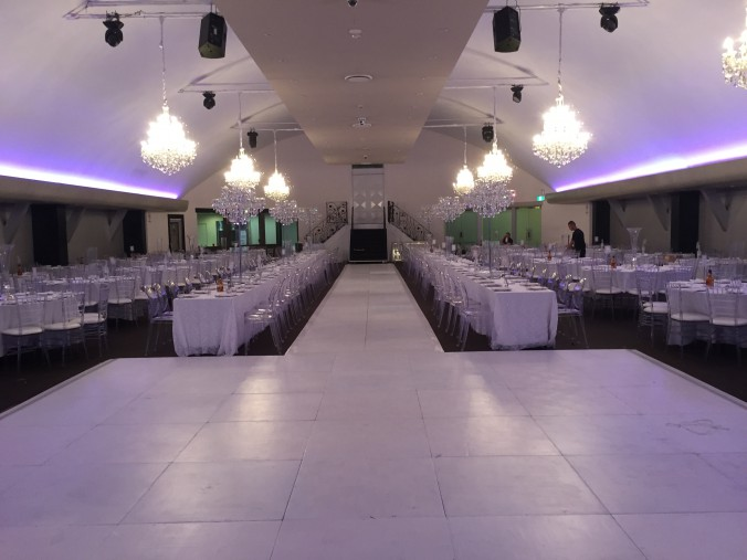 White Dance Floor with 20m Cat Walk